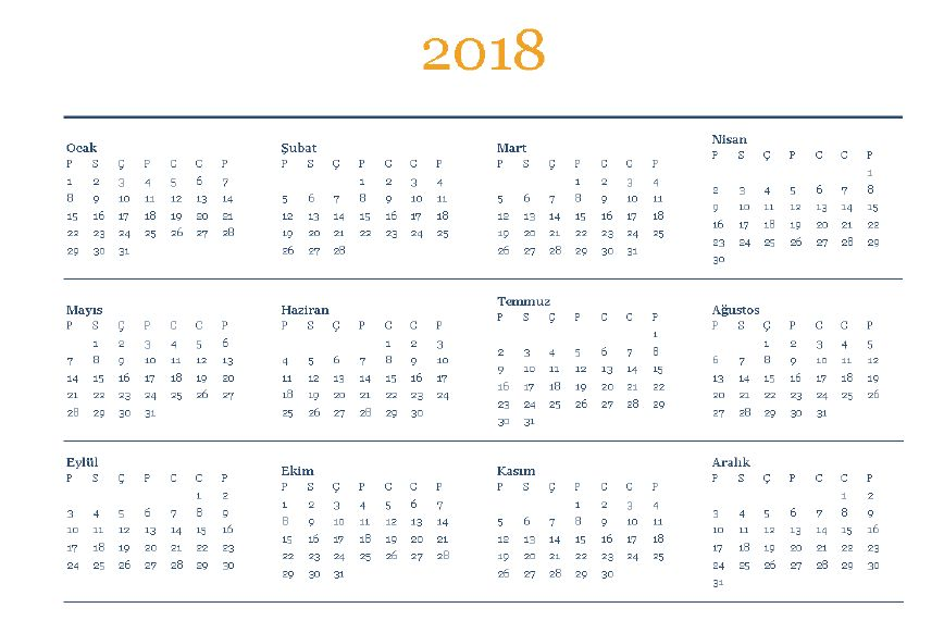 2018takvimi